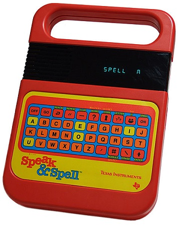 Un juguete Speak & Spell